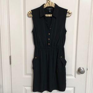 ALFANI Petites Ladies Dress w/pockets Black Sz 6P